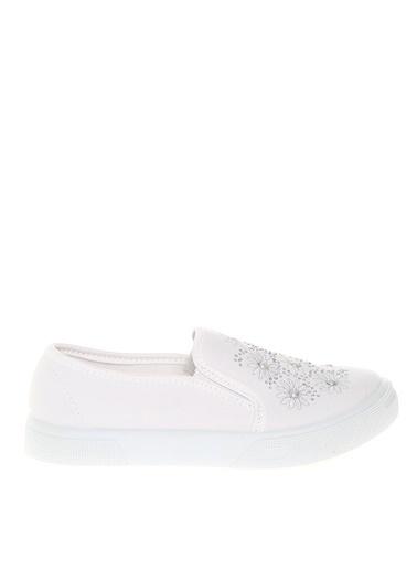Pink Step Spor Ayakkabı Beyaz